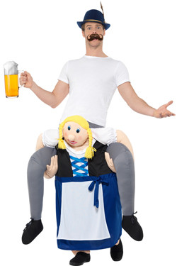 Piggyback Kostuum Bavarian Beer Maiden