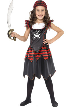Piraat Meisje Doodshoofd Kids