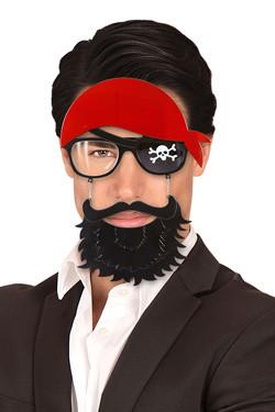 Pirate bril met baard