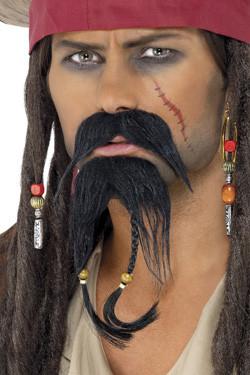 Piraat Gezichtshaar Set