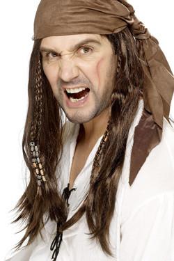 Piraat Buccaneer Pruik