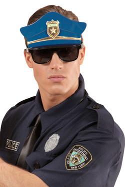 Politie bril met hoed