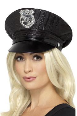 Politie Hoed Glitters