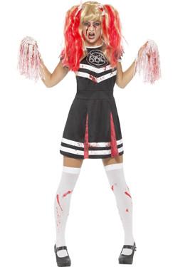 Satanic Halloween Cheerleader Kostuum