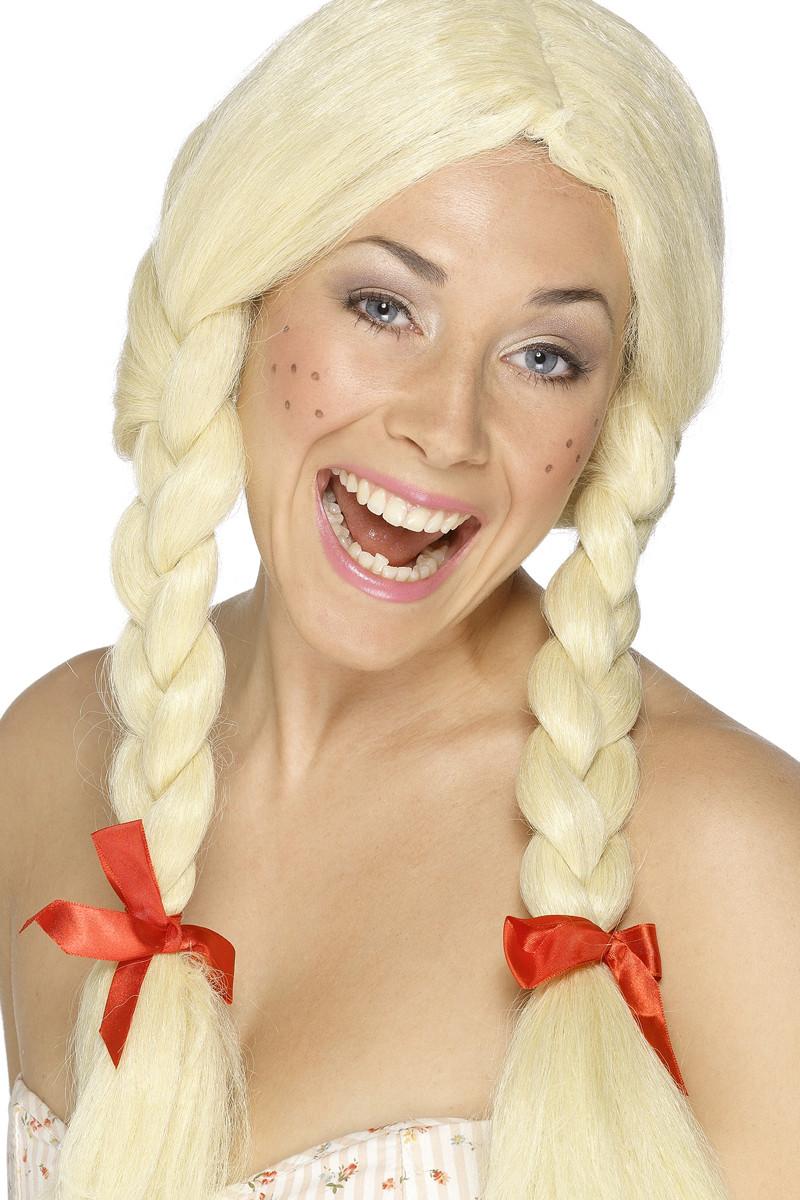 Schoolmeisje Pruik Blond