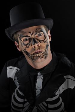 Skelet Gezichts-Tattoo