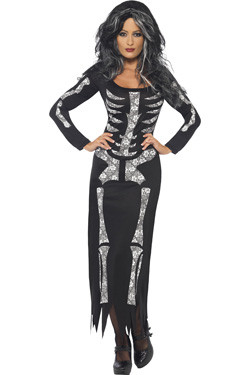 Skeletten Jurk Dames Lang