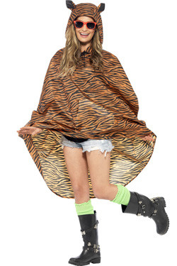 Party Poncho Tijger