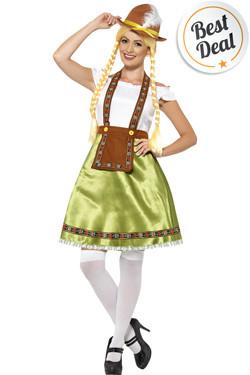 Tiroler Jurk Bavarian Maid Groen
