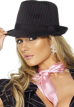 Trilby Gangster Hoed Pink
