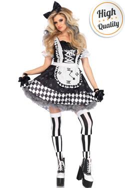 Alice Kostuum Zwart-Wit