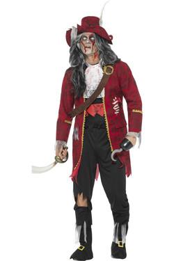 Zombie Kapitein Haak Kostuum