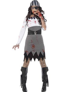 Zombie Piraat Kostuum Dames