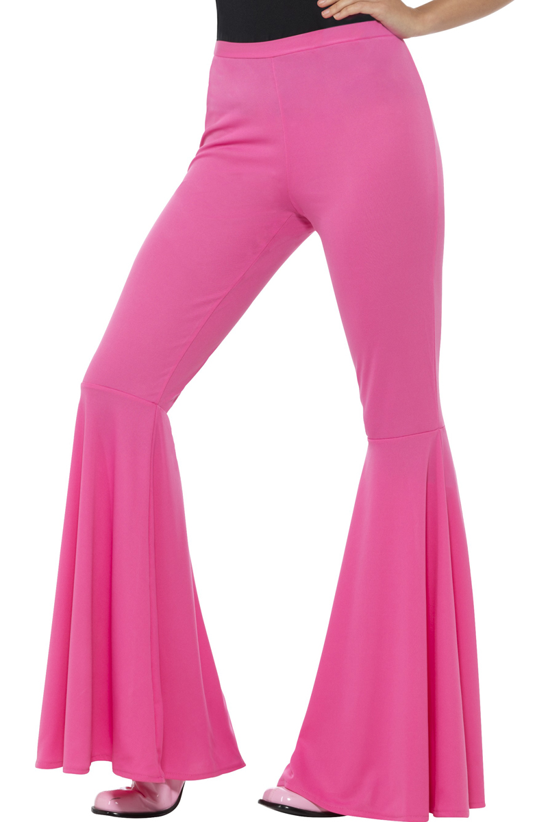 hippie broek dames pink voor jouw jaren  kostuum