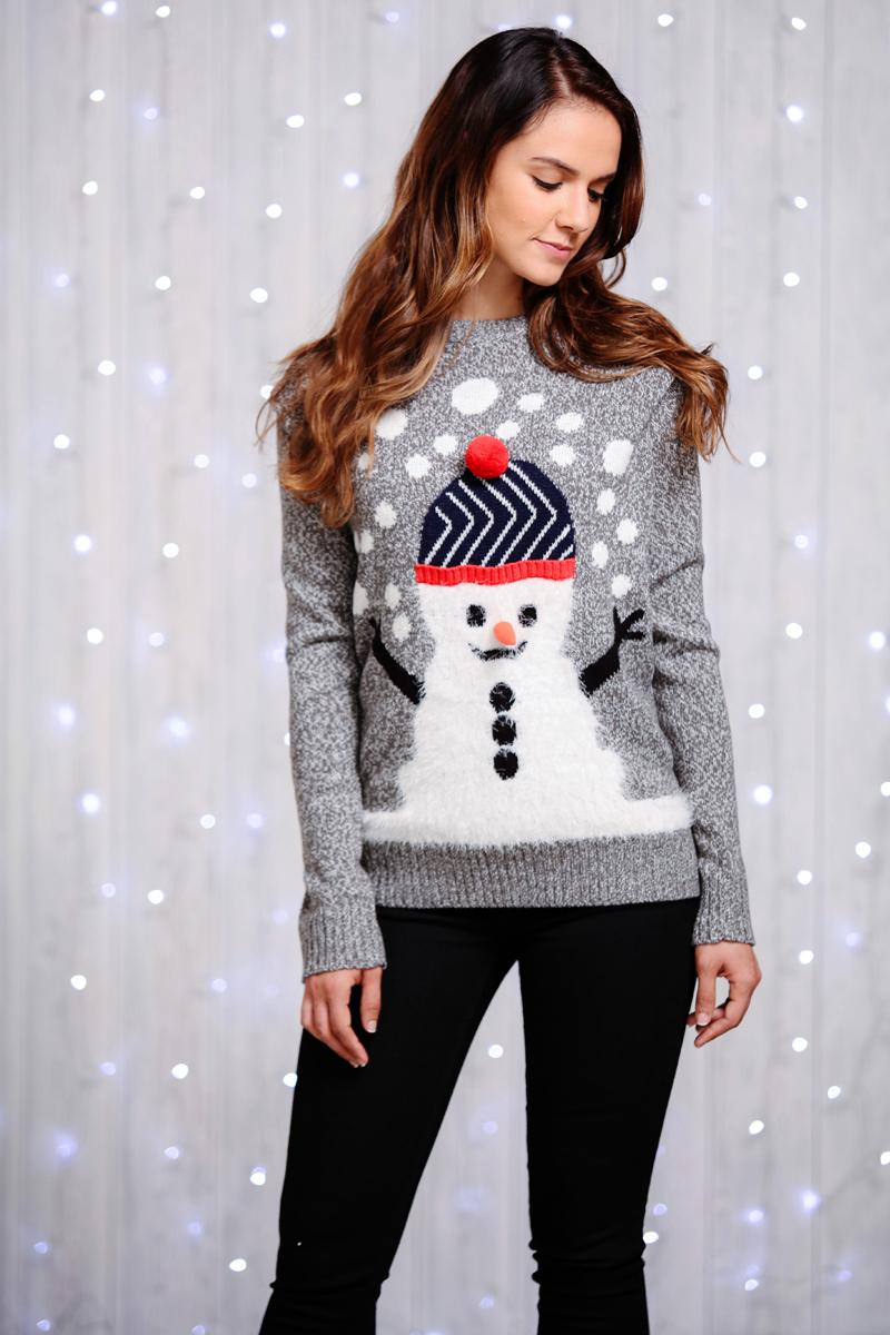 Unisex Kersttrui.Foute Kersttrui Met Sneeuwpop In Een Unisex Model