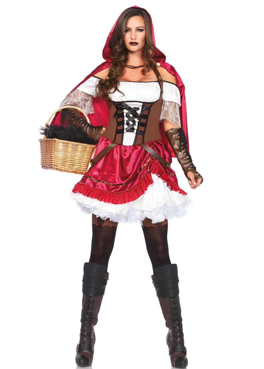 Stoere Dames Carnavalskleding.Het Stoere Rebel Roodkapje Kostuum Is Echt Iets Voor Jou