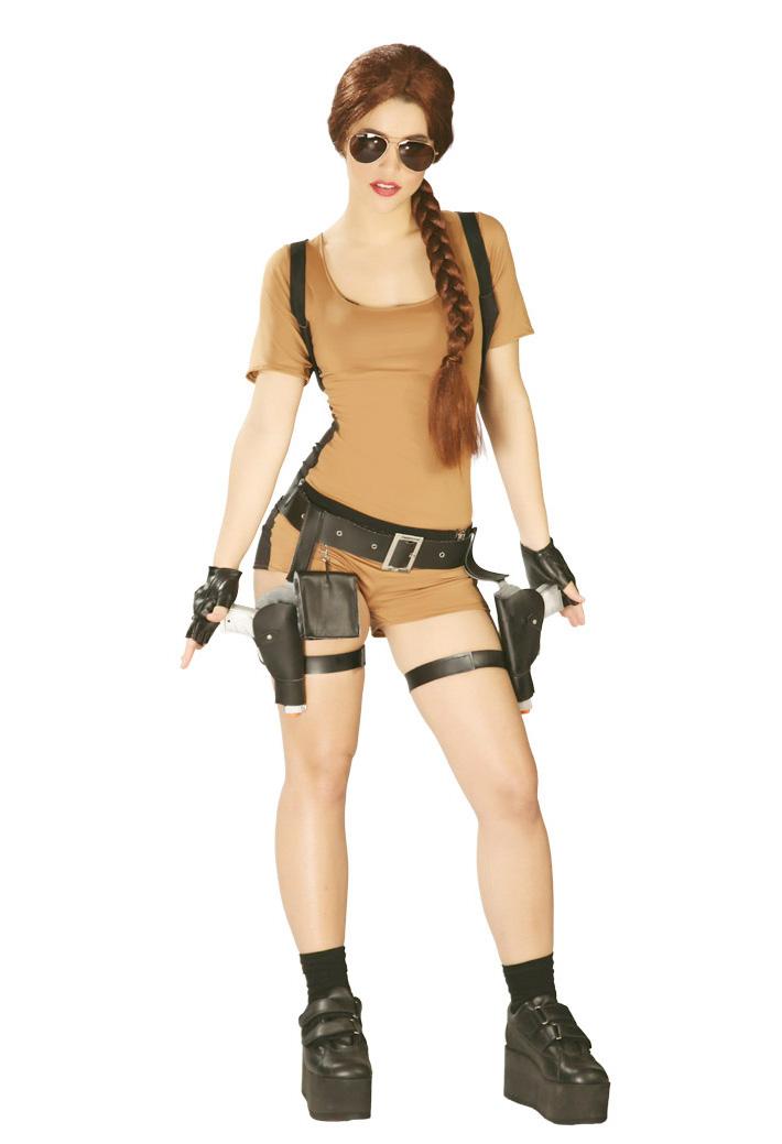 Stoere Dames Carnavalskleding.Stoer Lara Croft Tomb Raider Kostuum Voor Dames